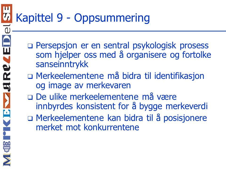 Kapittel 9 - Oppsummering