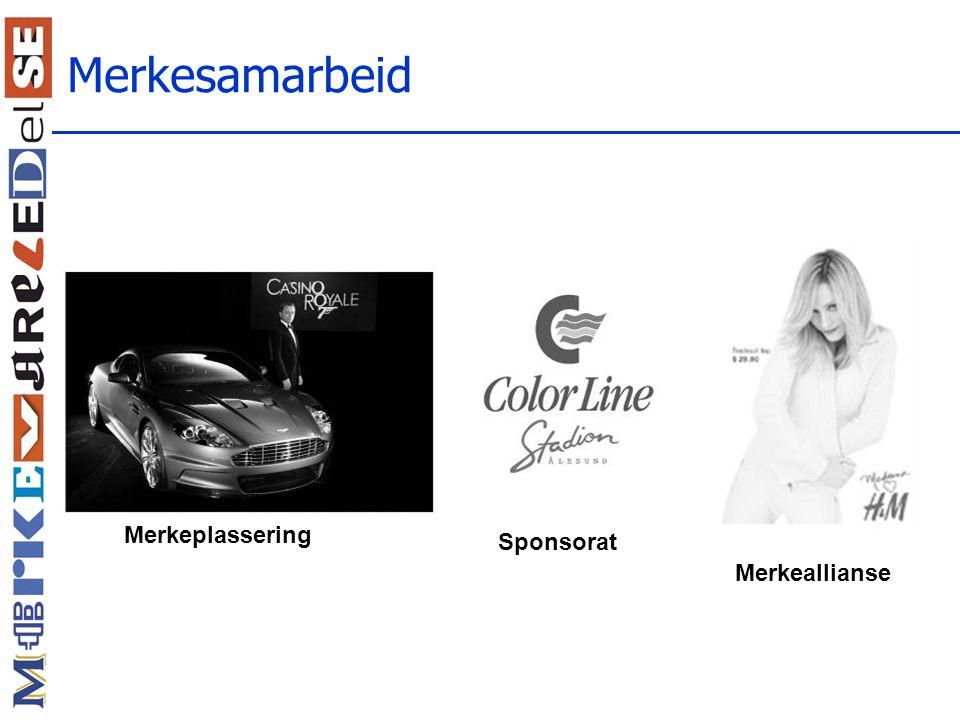 Merkesamarbeid Merkeplassering Sponsorat Merkeallianse