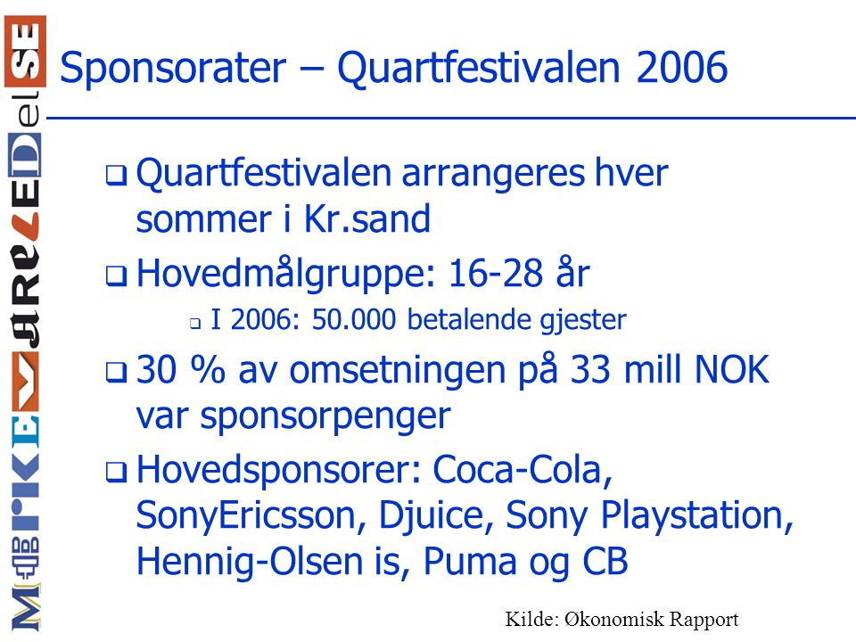 Sponsorater – Quartfestivalen 2006