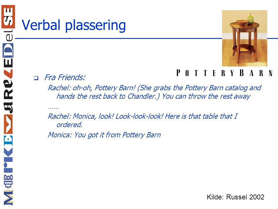 Verbal plassering Fra Friends:
