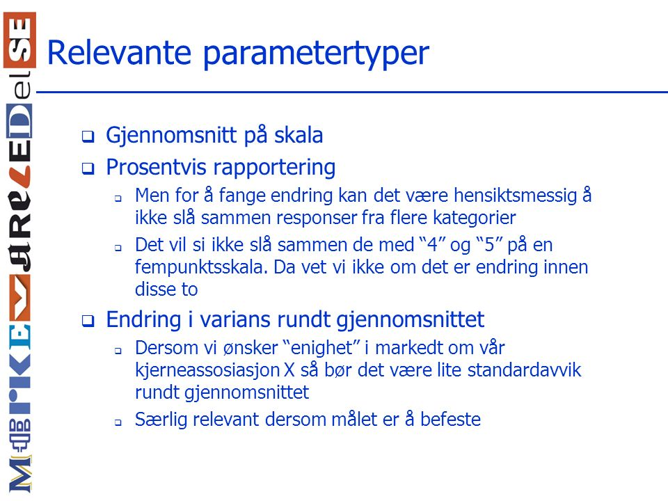 Relevante parametertyper