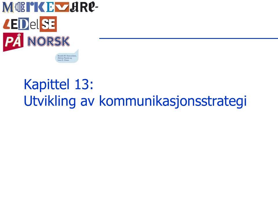 Kapittel 13: Utvikling av kommunikasjonsstrategi