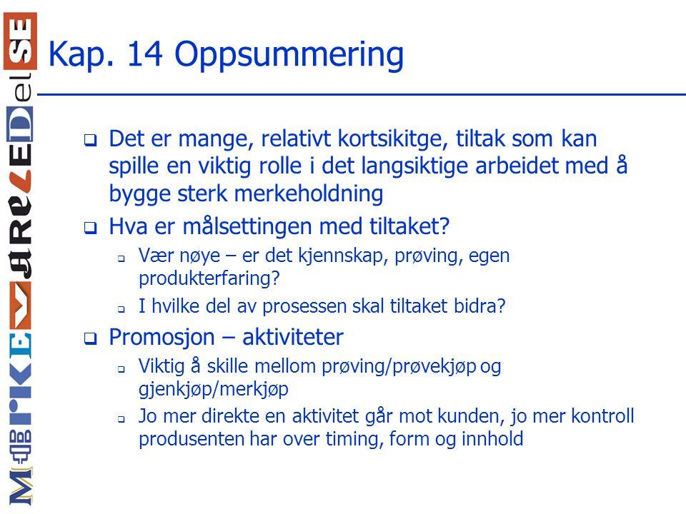 Kap. 14 Oppsummering
