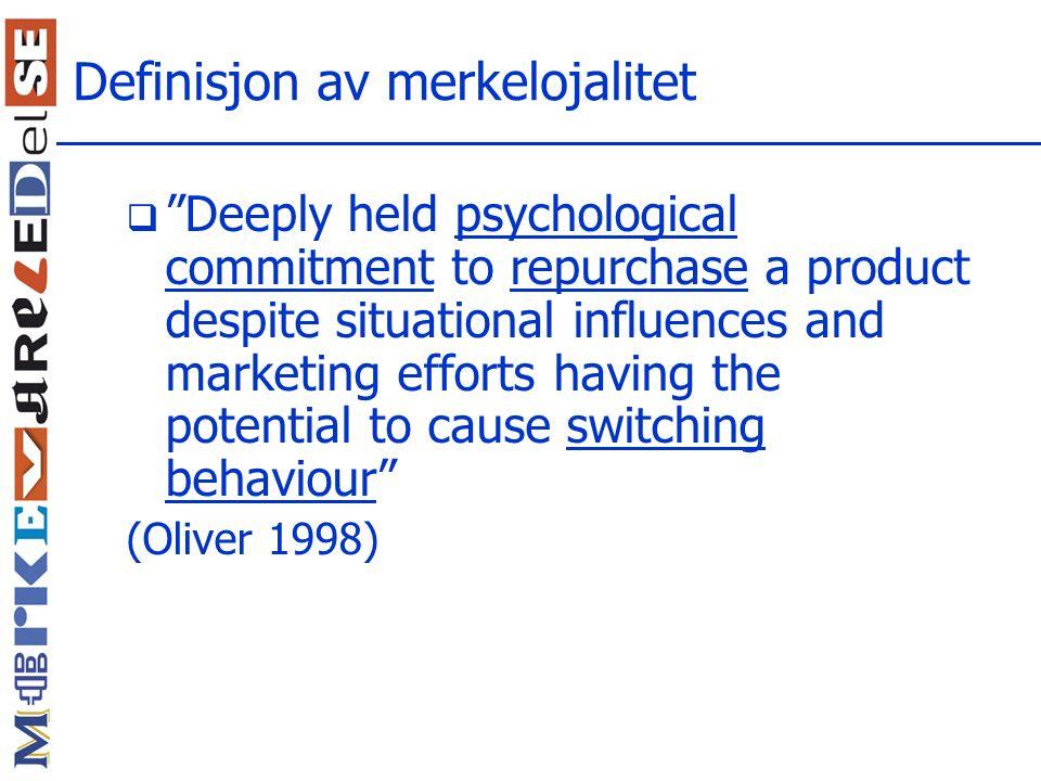 Definisjon av merkelojalitet