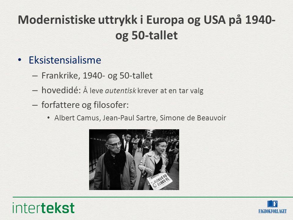 Modernistiske uttrykk i Europa og USA på 1940- og 50-tallet