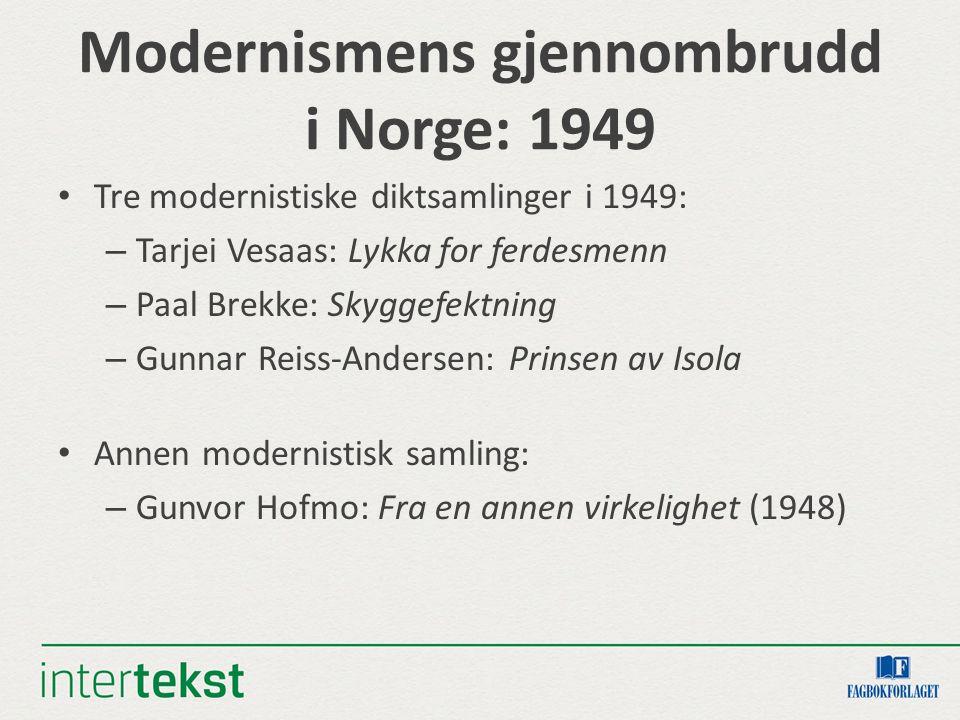 Modernismens gjennombrudd i Norge: 1949