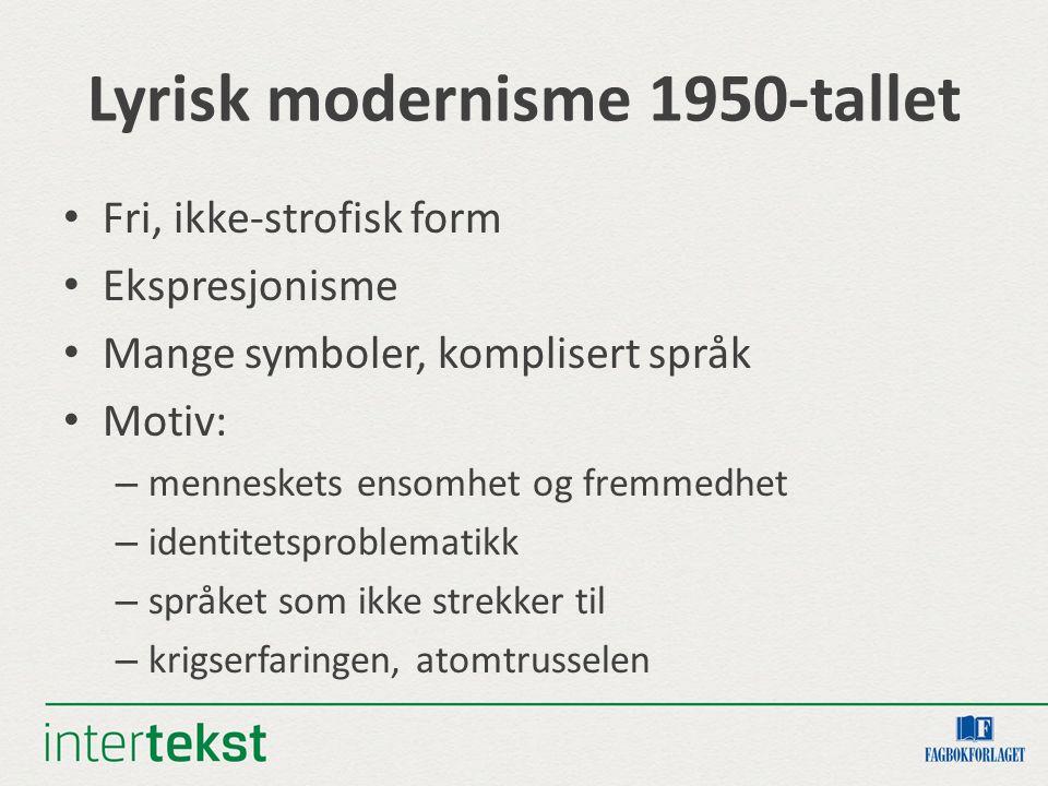 Lyrisk modernisme 1950-tallet