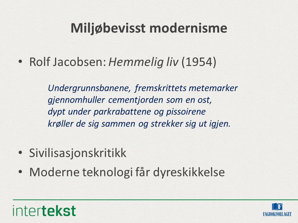 Miljøbevisst modernisme