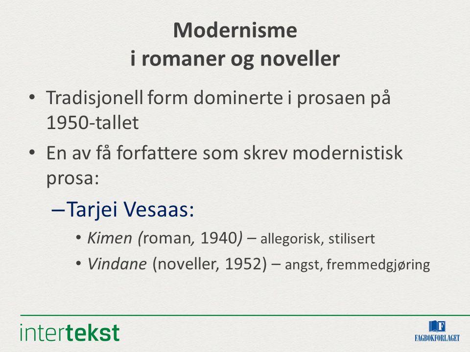 Modernisme i romaner og noveller