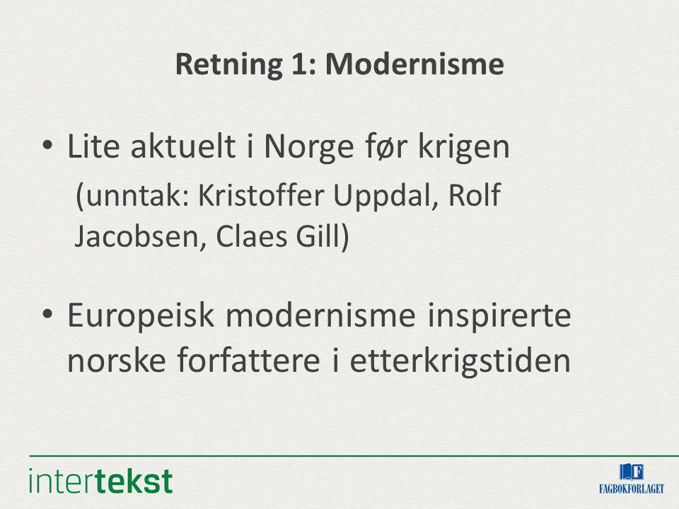 Lite aktuelt i Norge før krigen