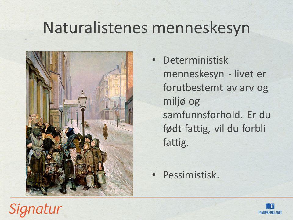 Naturalistenes menneskesyn