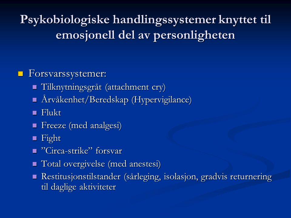 Psykobiologiske handlingssystemer knyttet til emosjonell del av personligheten