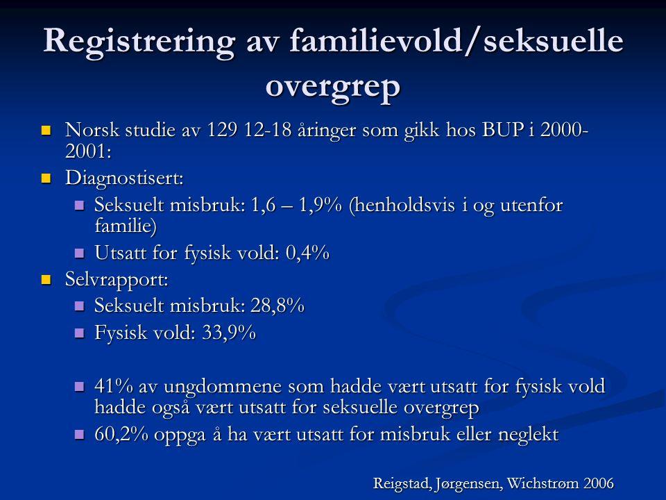Registrering av familievold/seksuelle overgrep