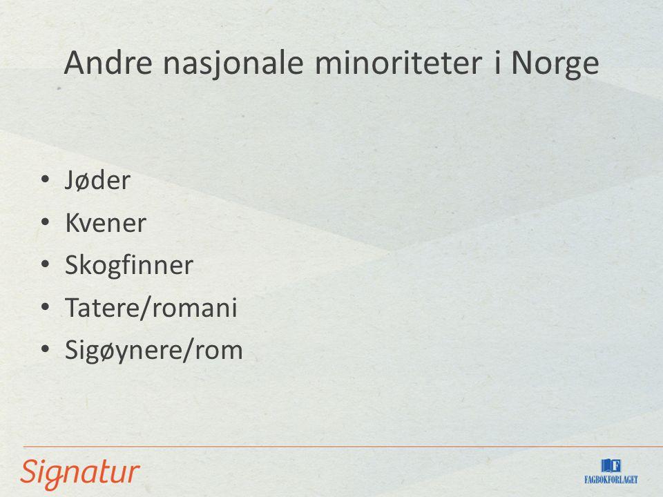 Andre nasjonale minoriteter i Norge