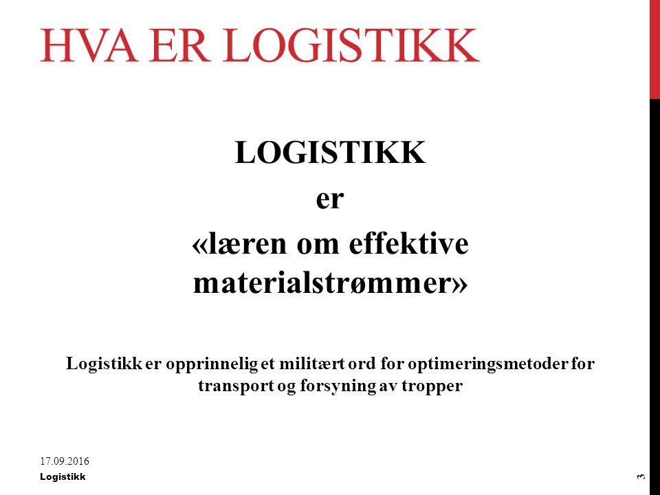 «læren om effektive materialstrømmer»