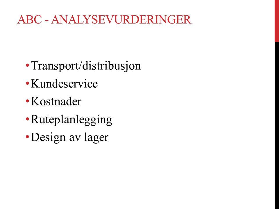 ABC - analysevurderinger