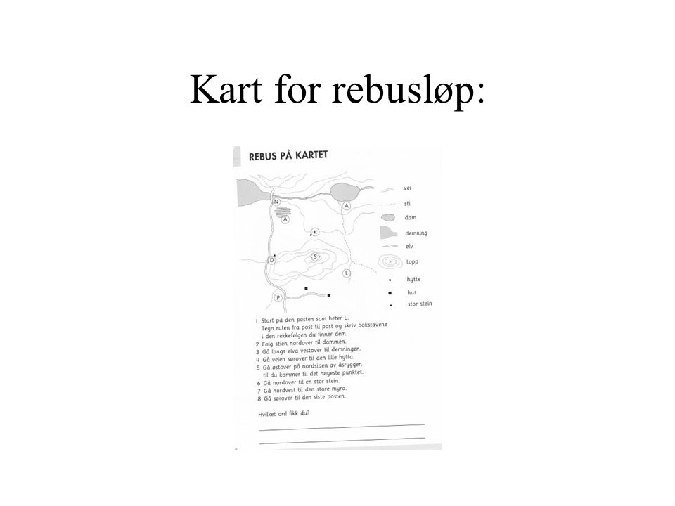 Kart for rebusløp: