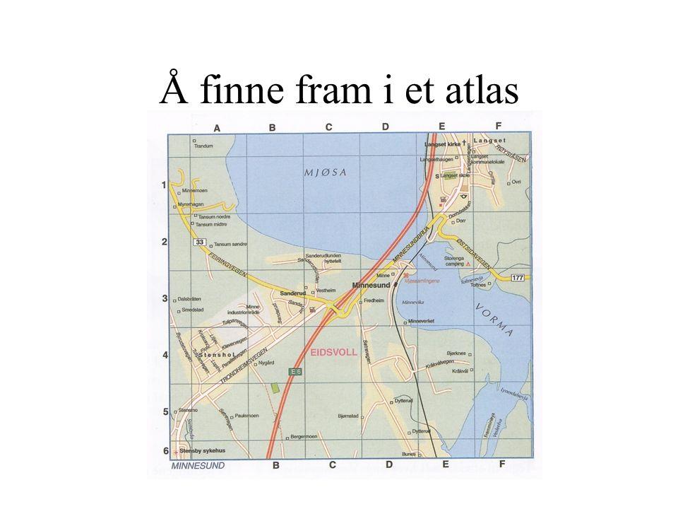 Å finne fram i et atlas