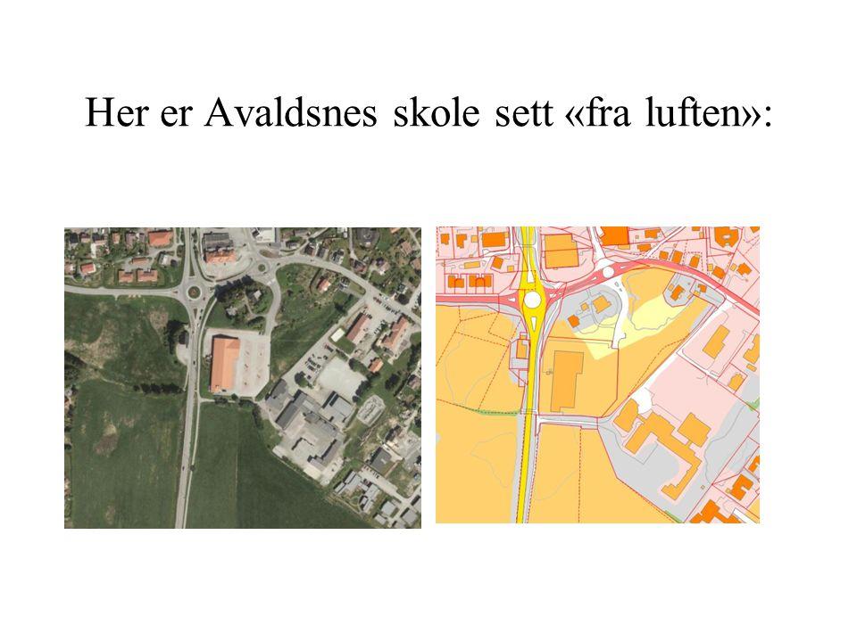 Her er Avaldsnes skole sett «fra luften»: