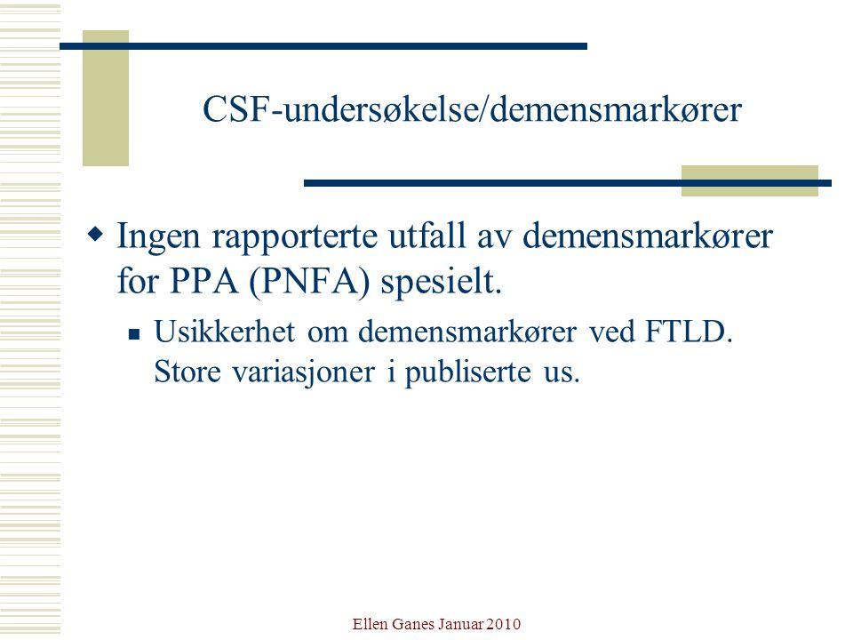 CSF-undersøkelse/demensmarkører