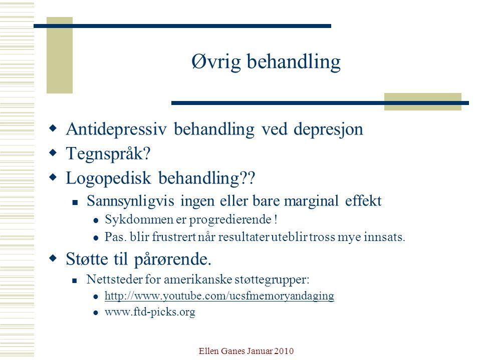 Øvrig behandling Antidepressiv behandling ved depresjon Tegnspråk