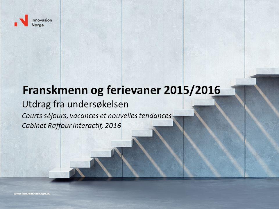 Franskmenn og ferievaner 2015/2016