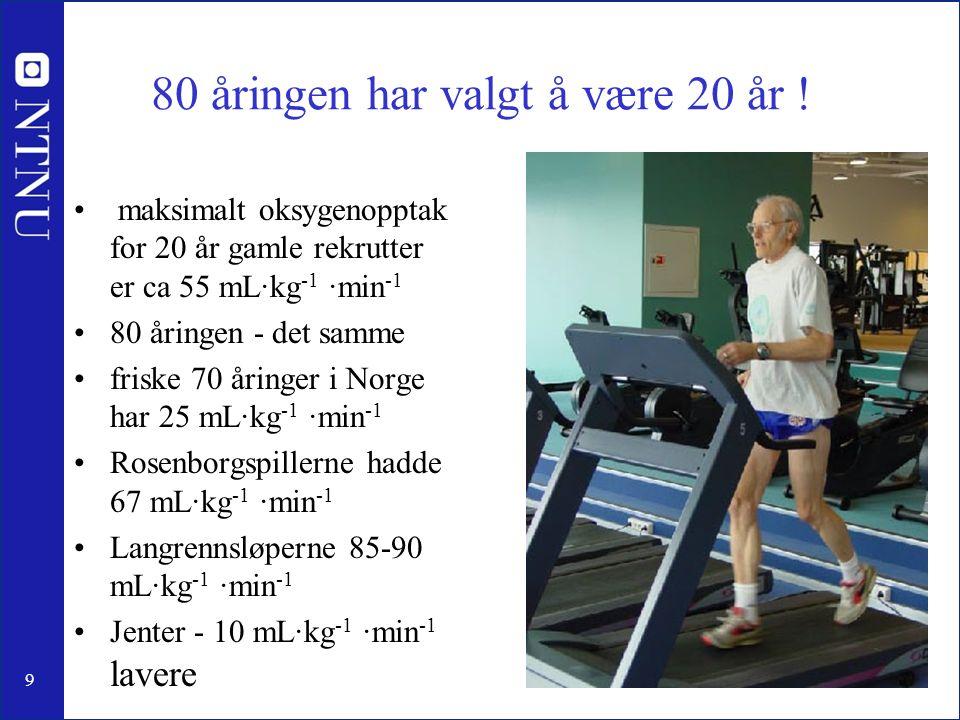 80 åringen har valgt å være 20 år !