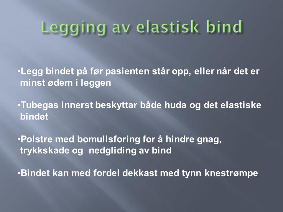 Legging av elastisk bind