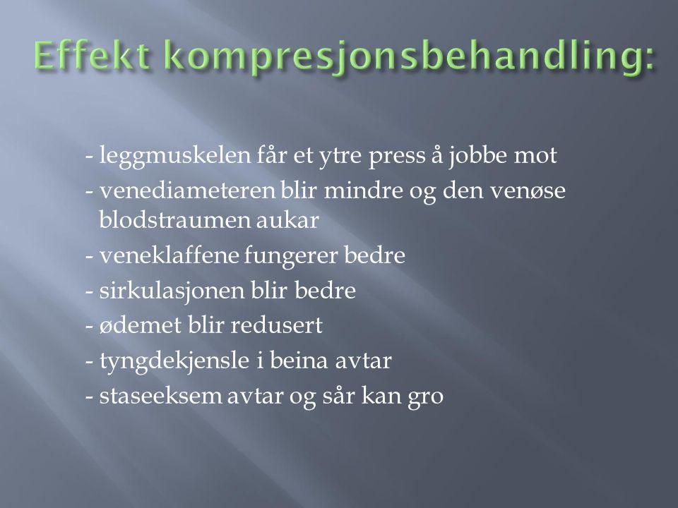 Effekt kompresjonsbehandling: