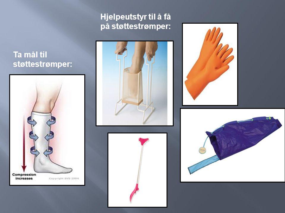 Hjelpeutstyr til å få på støttestrømper: