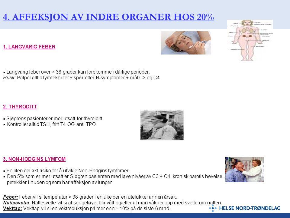 4. AFFEKSJON AV INDRE ORGANER HOS 20%