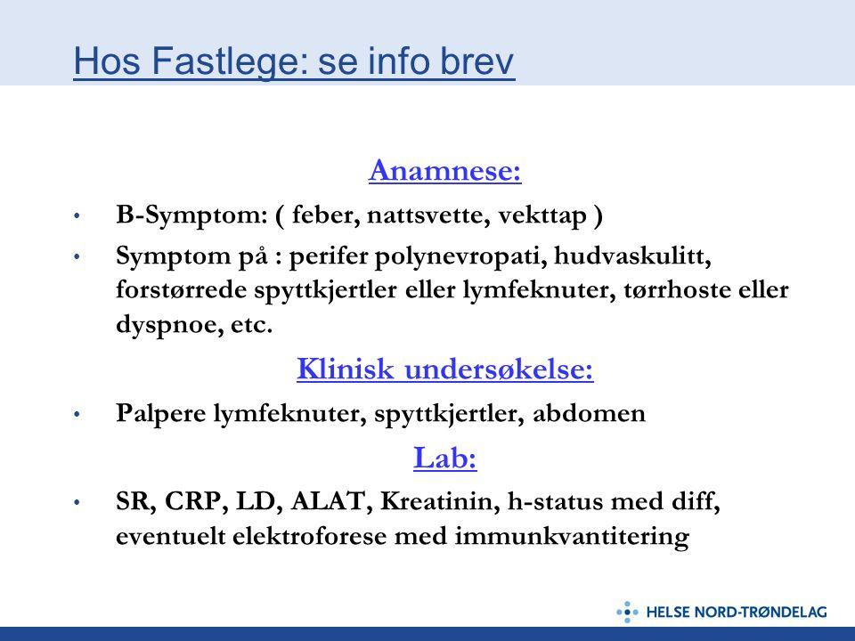 Hos Fastlege: se info brev