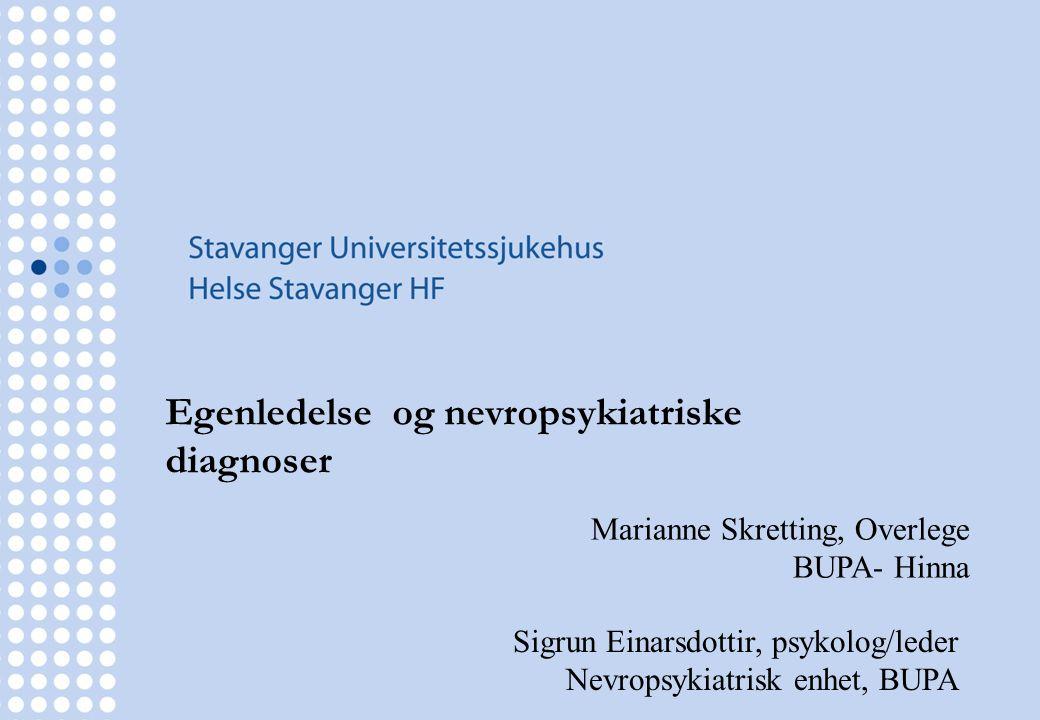 Egenledelse og nevropsykiatriske diagnoser