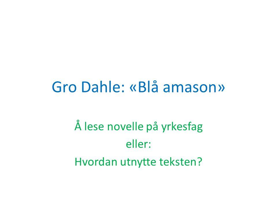 Gro Dahle: «Blå amason»