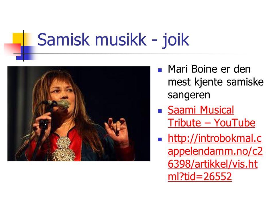 Samisk musikk - joik Mari Boine er den mest kjente samiske sangeren