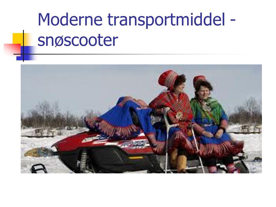 Moderne transportmiddel -snøscooter