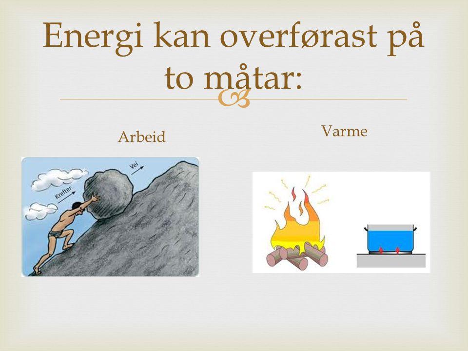 Energi kan overførast på to måtar: