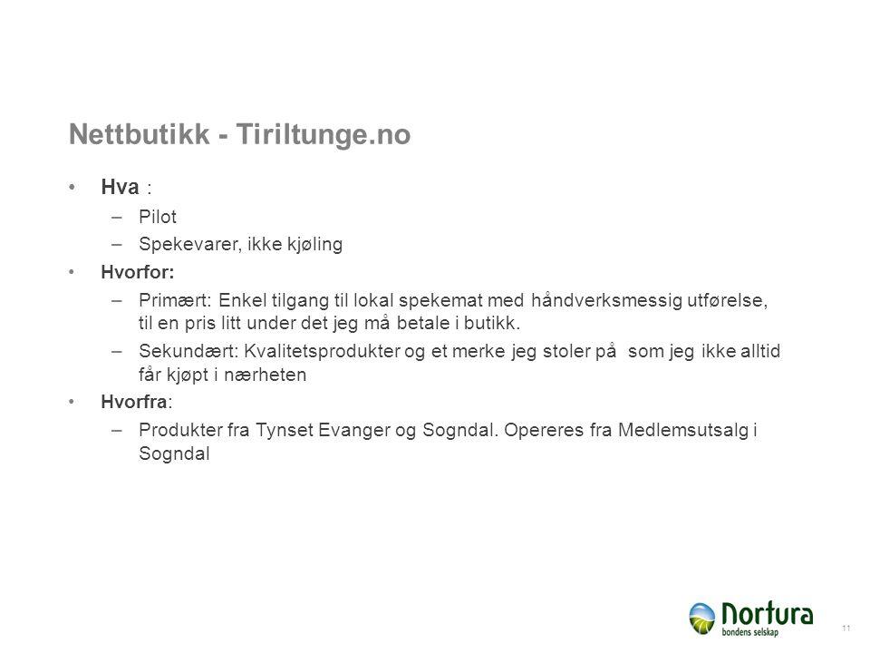 Nettbutikk - Tiriltunge.no