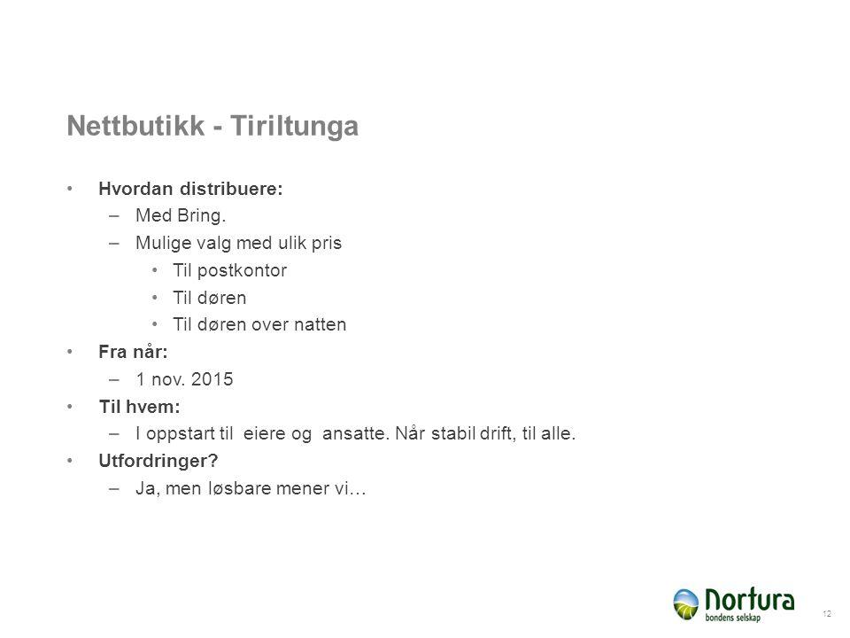 Nettbutikk - Tiriltunga