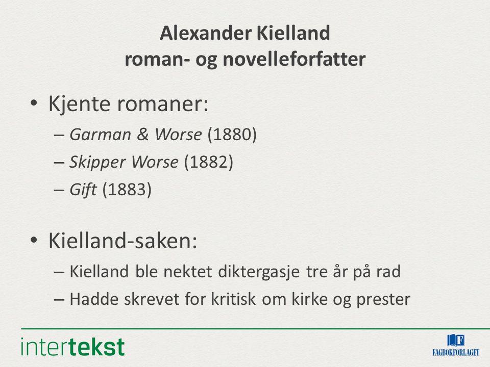 Alexander Kielland roman- og novelleforfatter