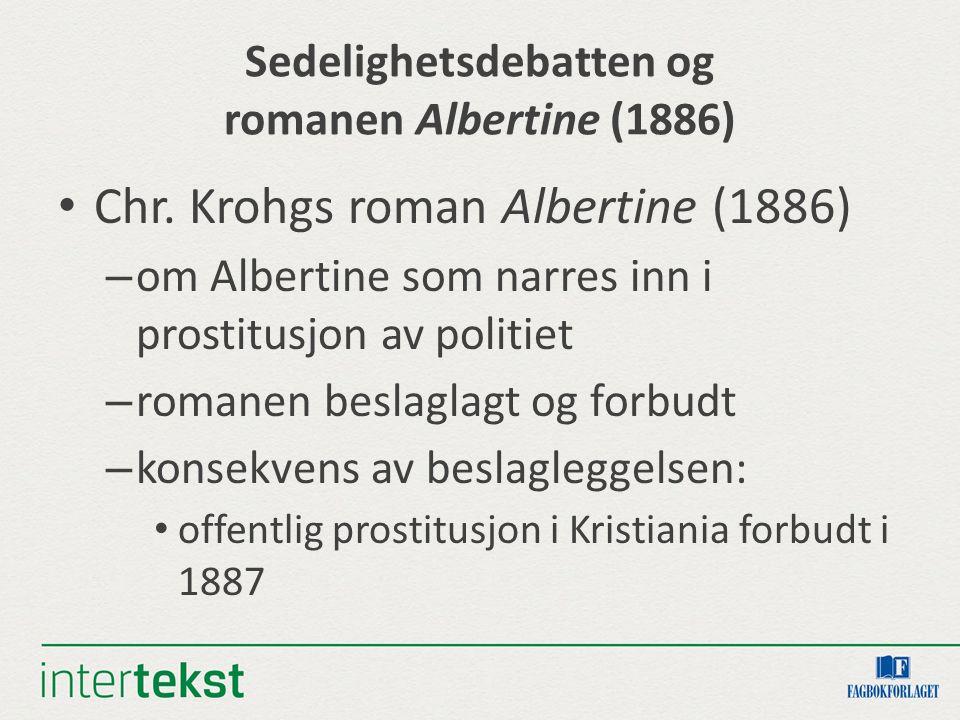 Sedelighetsdebatten og romanen Albertine (1886)