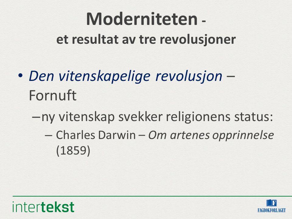 Moderniteten - et resultat av tre revolusjoner