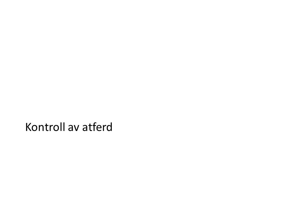 Kontroll av atferd