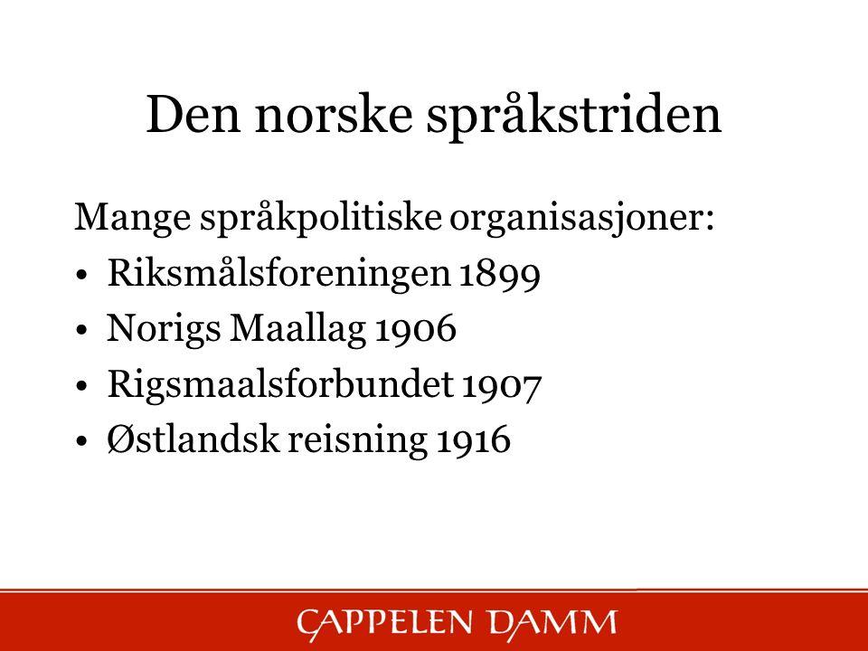 Den norske språkstriden