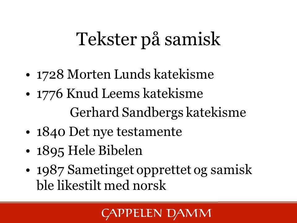 Tekster på samisk 1728 Morten Lunds katekisme