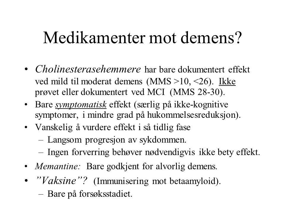 Medikamenter mot demens