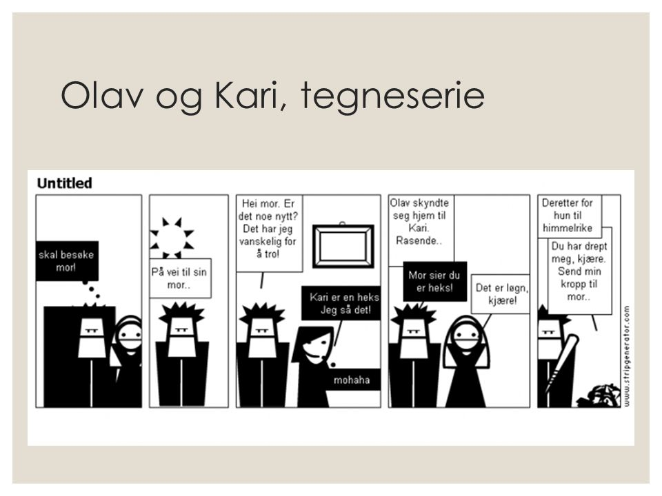Olav og Kari, tegneserie