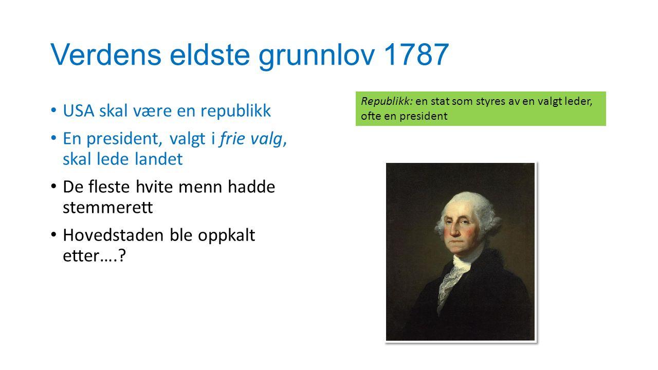 Verdens eldste grunnlov 1787