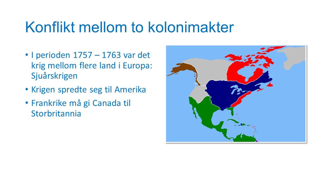 Konflikt mellom to kolonimakter