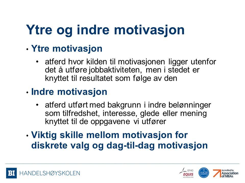 Ytre og indre motivasjon